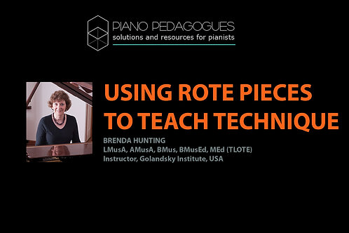 Using Rote Pieces to Teach Technique
