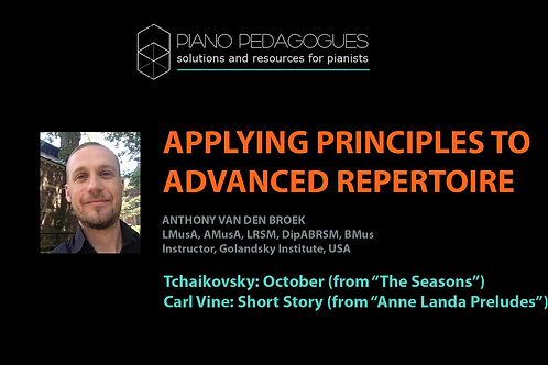 Applying Taubman Principles in Tchaikovsky's October and Carl Vine's Short Story