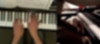 A screen shot of a recent piano lesson via Skype