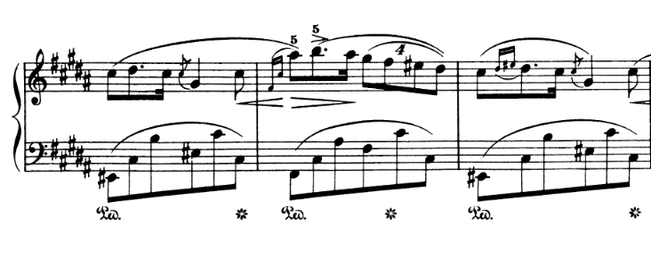 Chopin Op 9 no 3: Four against three polyrhythm