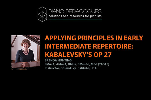 Applying Taubman Principle in Kabalevsky's Op. 27