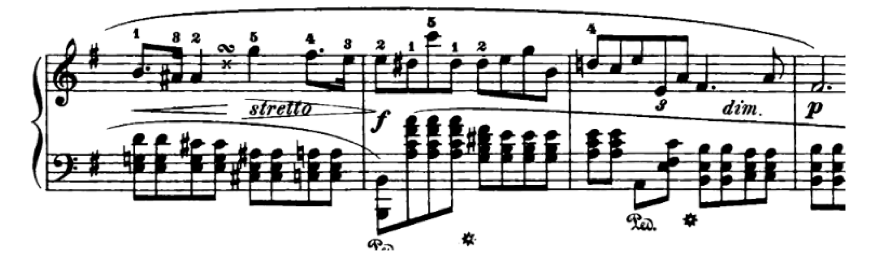 Chopin Prelude in E minor polyrhythm