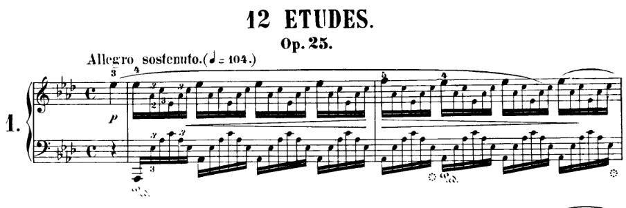 Chopin: Etude Op 25 no 1