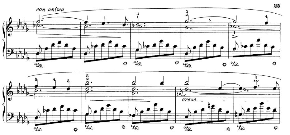 Chopin Scherzo No 2, bars 197 to 206
