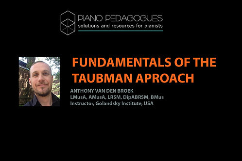 Fundamentals of the Taubman Approach