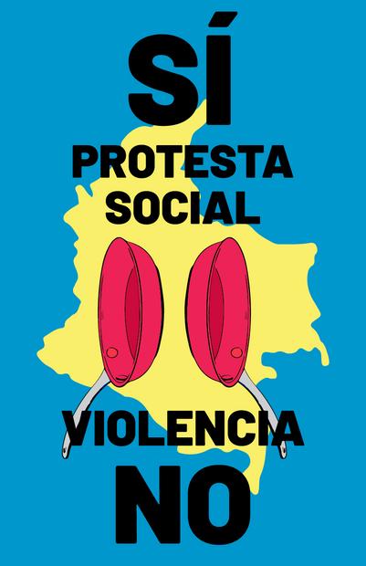 Protesta Social Sí - Blue