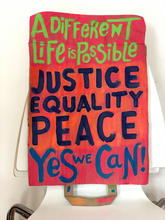Justice, Peace, Equality Sign