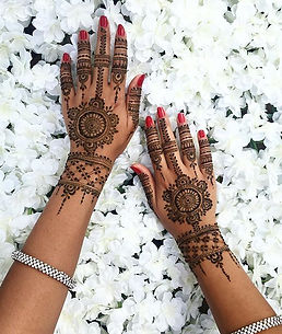 Mandala design with a lace band and fing