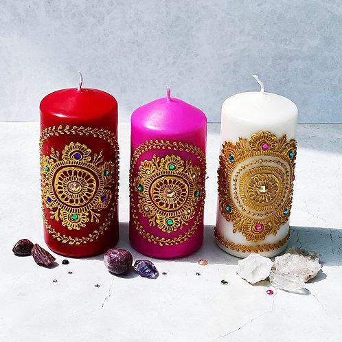 Personalised Large Mehndi Candles