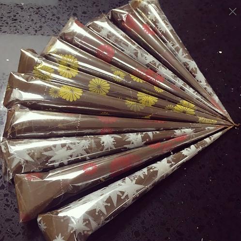 Natural Mehndi Cones (5pk)