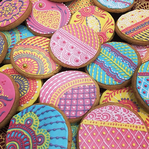 Mehndi Decorated Biscuits