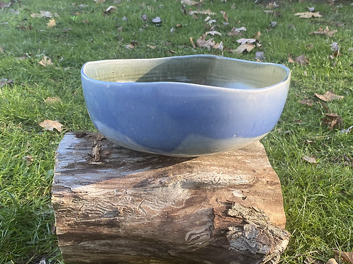 Large Bowl, Salt-fired