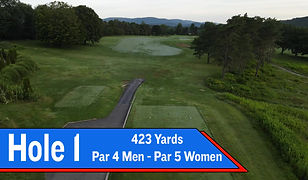 The dog leg right opening hole at BHCC provides great views of the mountains to the north.  Most golfers should look to leave their drive on the top of the hill giving themselves a view of the green for their approach.  Longer hitters may take their drives over the right side fairway bunker leaving themselves with a wedge or short iron into the green that is guarded on either side by two bunkers.  One should try to leave their approach shot below the hole as this green slopes from back to front.