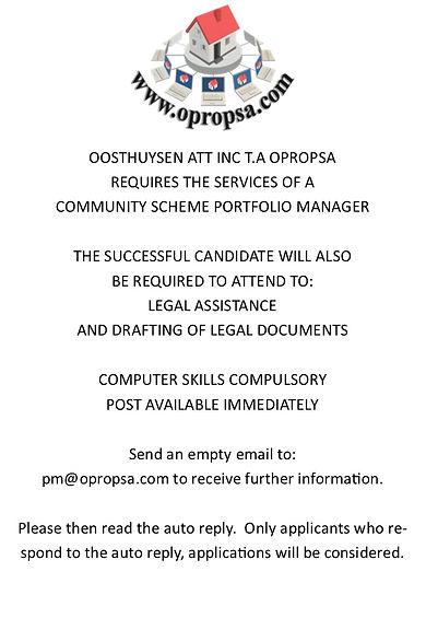 Community Scheme Portfolio Manager 20200