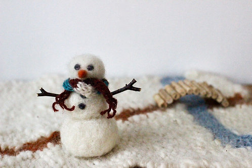 Tovad snögubbe