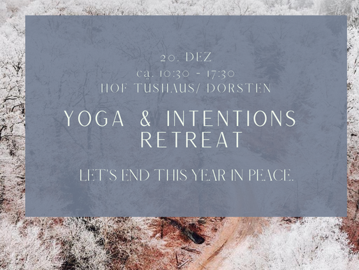 Yoga & Intentions Tages Retreat
