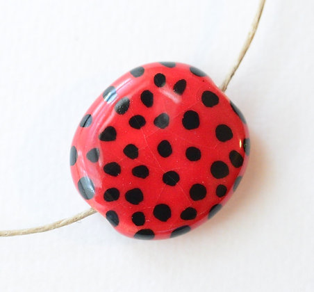 red with black dots pita pat