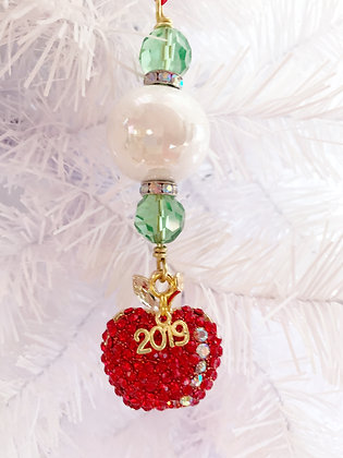 apple for the teacher ornaments - assorted colors