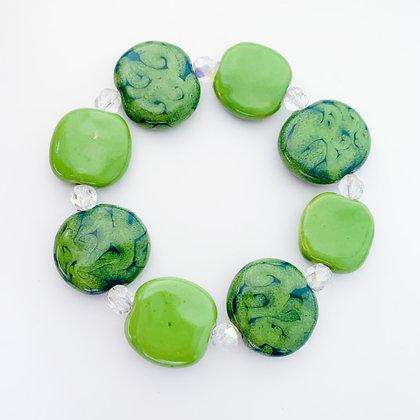 shades of green swirls budget bracelet