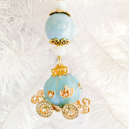 light blue princess carriage ornament