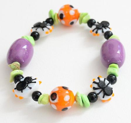 multi color spider bracelet