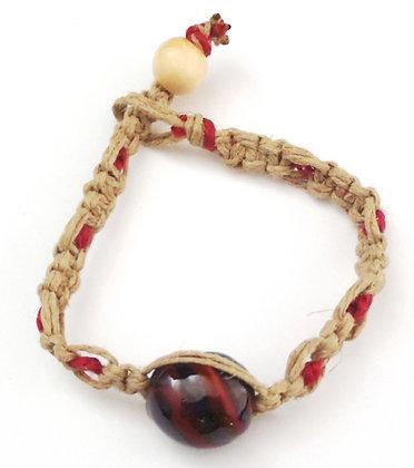 pink and black macrame bracelet