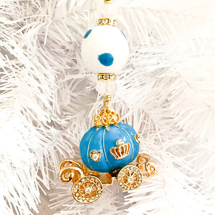 turquoise princess carriage ornament-2 variations