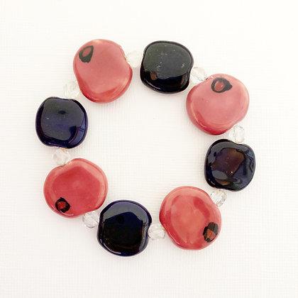 navy and rose pink budget bracelet