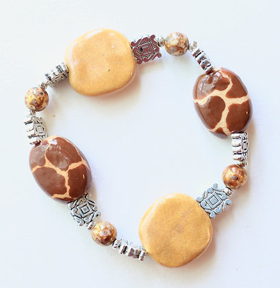 brown giraffe pattern bracelet