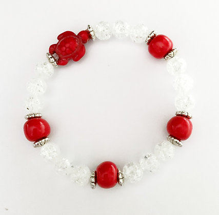 red turtle stackable bracelet