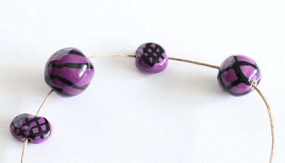 purple with black - assorted