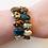 Thumbnail: brown, green, cream wrap bracelet