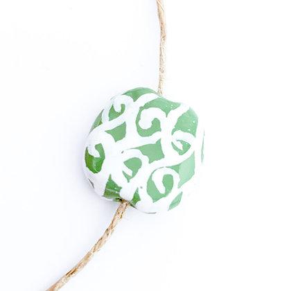 green with white persian pattern mini pita pat