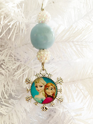 light blue frozen ornament small