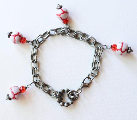 red and white giraffe pattern bracelet