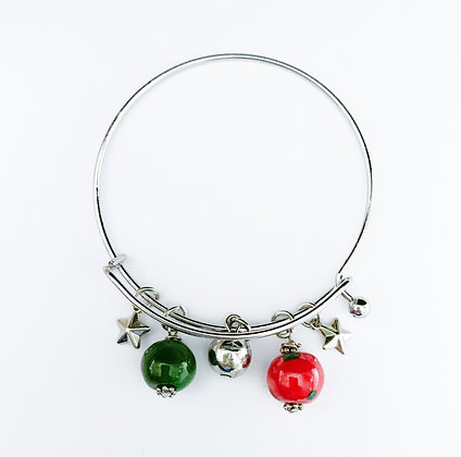 red and green charm bracelet