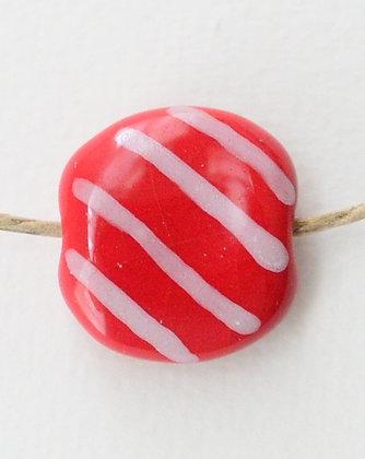 red & white jazzy diagonal mini pita pat