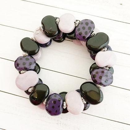 purple and black wrap bracelet