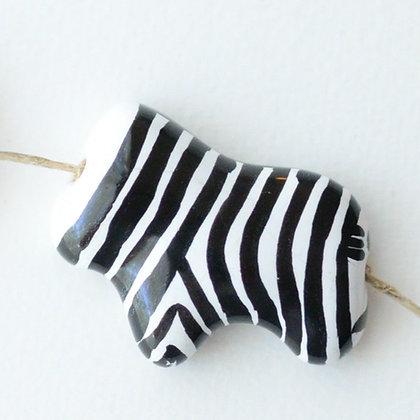 zebra pendant bead - assorted
