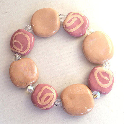 pink and tan budget bracelet