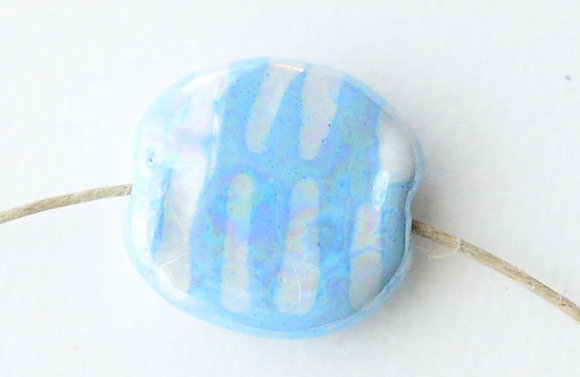 pale blue with white lines pita pat