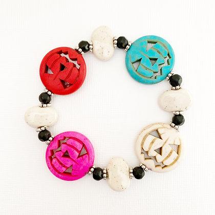multi-color jack-o-lantern bracelet