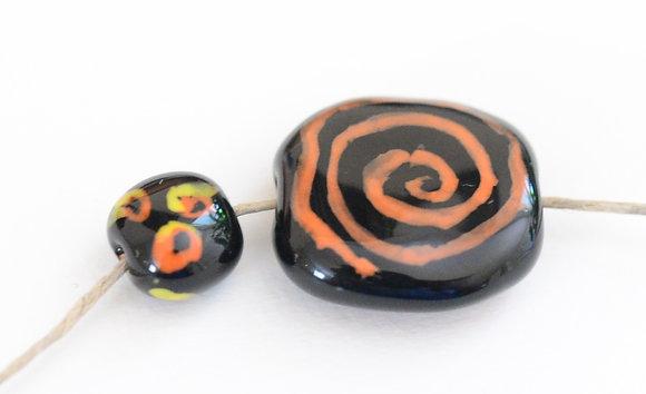 black with orange porini pita pat