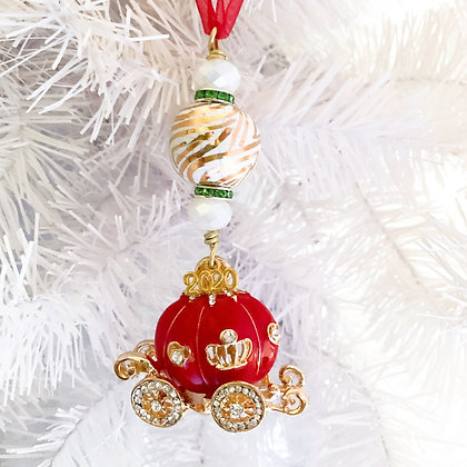 red princess carriage ornament