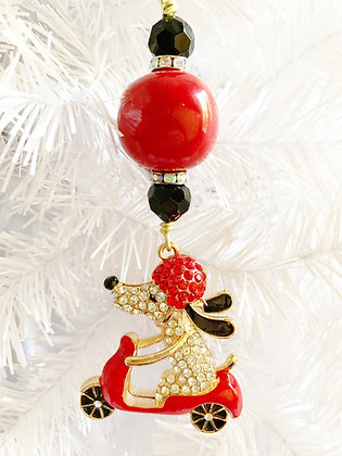 scooter snoopy ornament