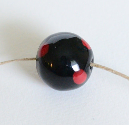 black with red round ball - assorted