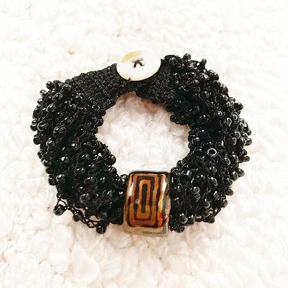 black with copper stretch bracelet