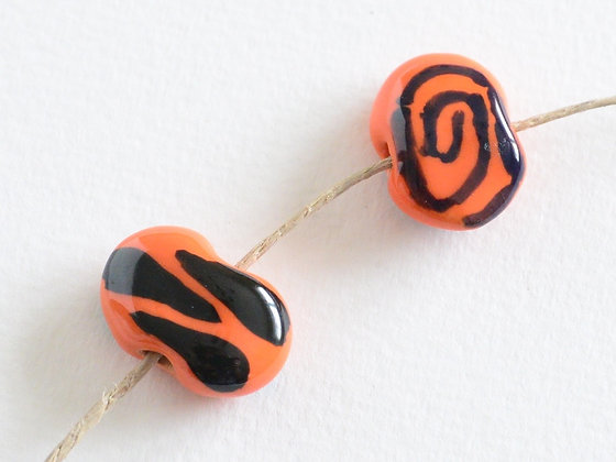 orange with black shales - assorted