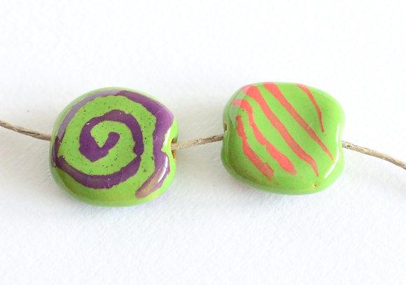 green with purple/orange pita pat - assorted
