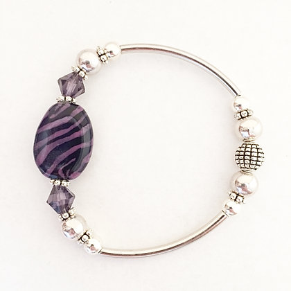 purple zebra pattern bracelet
